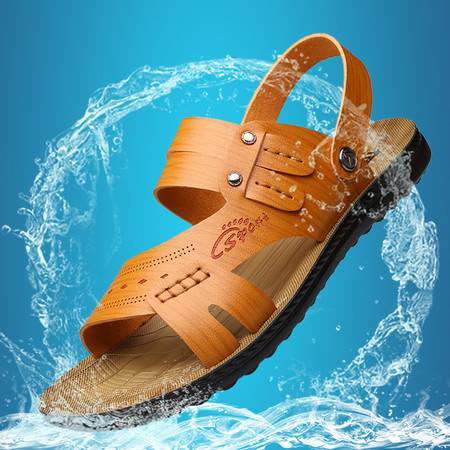 俊斯特新款夏季男士韩版时尚休闲凉鞋沙滩鞋男凉拖鞋