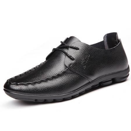 俊斯特新款舒适豆豆鞋驾车鞋休闲皮鞋时尚男鞋子
