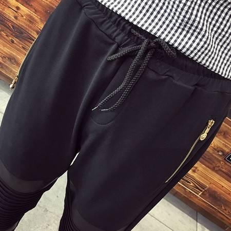 G2016秋新款男士潮流螺纹休闲裤收口裤子