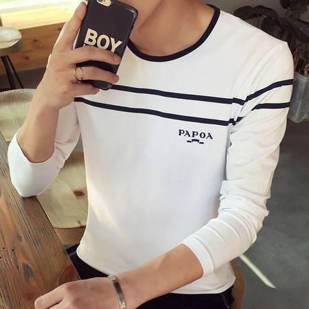 G2016秋新款男装时尚拼长袖T恤