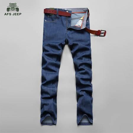 Z807#战地吉普春秋新款韩版牛仔裤中腰舒适透气时尚男式直筒牛仔