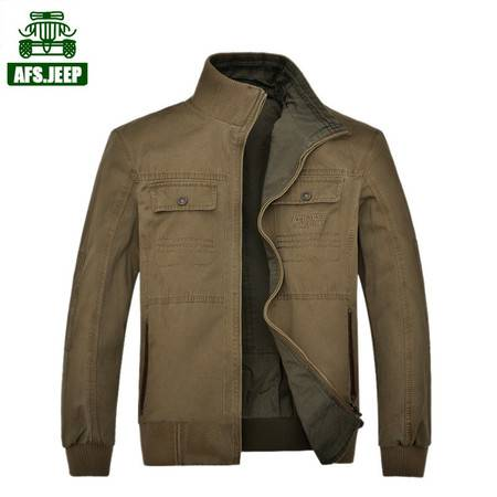 Z862处理战地吉普夹克男士秋装商务休闲短装双面穿立领夹克外套薄