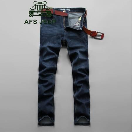 Z038#战地吉普AFS JEEP加大码韩版男士休闲商务直筒牛仔长裤