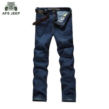 Z118#战地吉普AFS JEEP加大码韩版男士休闲商务直筒牛仔长裤