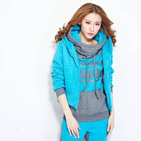 Z2016新款休闲运动套装韩版卫衣三件套加厚加绒冬显瘦套装9836