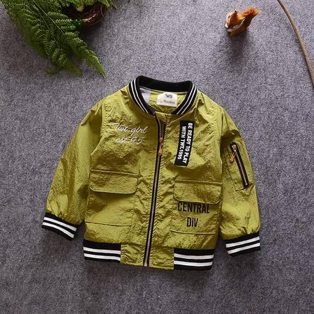 M童装 16年秋季男童外套 韩版宝宝袖子拉链卡通米奇夹克衫
