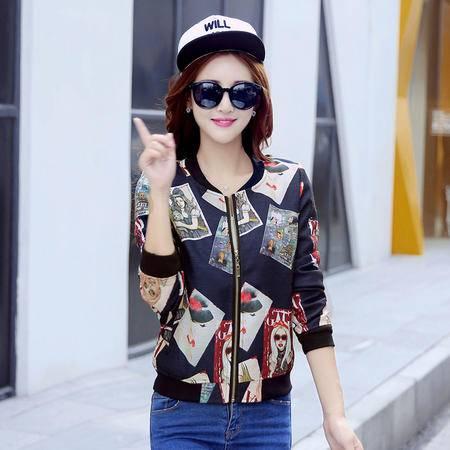 FA女棒球服上衣韩版秋季新款夹克短外套单件短款宽松长袖百搭