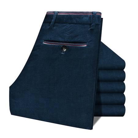 K男士休闲裤子男装菠萝纹灯芯绒条绒裤商务修身直筒弹力抗皱男裤