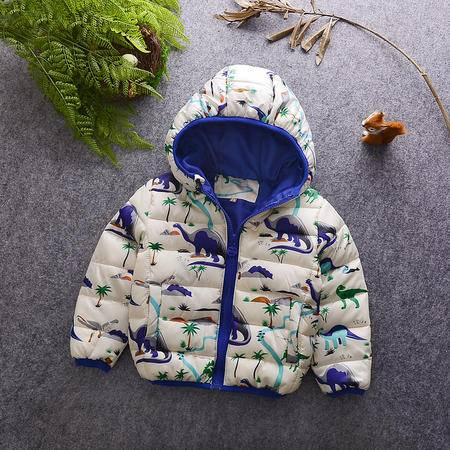 M童装16年冬季男童棉衣韩版中小童满印卡通图案手塞棉棉袄