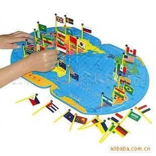 世界地图插国旗 让孩子了解世界 0.90KG