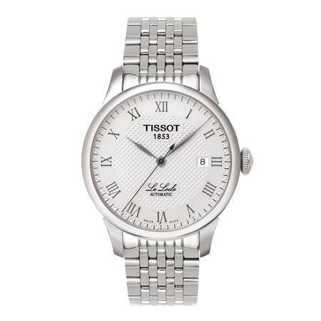 天梭(TISSOT)手表 力洛克系列钢带机械情侣表男表T41.1.483.33