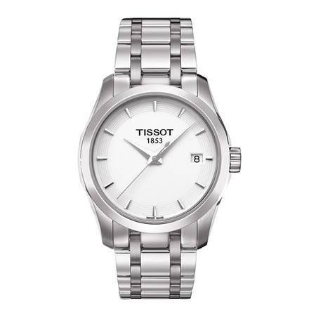 天梭(TISSOT)手表 库图系列钢带石英女表T035.210.11.011.00