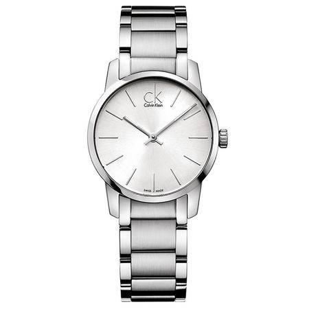 CK卡文克莱(CalvinKlein)手表CITY系列情侣表女表白盘钢带石英表K2G23126