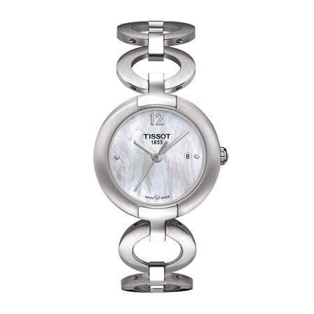 天梭(TISSOT)手表 时尚系列钢带石英女士手表T084.210.11.117.01