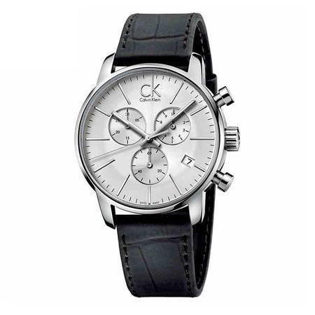CK卡文克莱(CalvinKlein)手表Gents系列男表白盘黑色皮带石英表K2G271C6