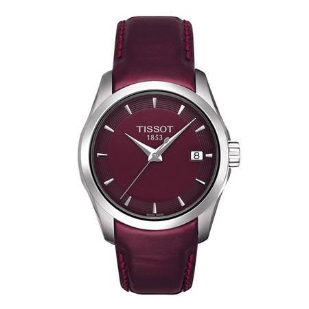 天梭(TISSOT)手表 库图系列皮带石英女表T035.210.16.371.00