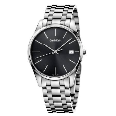 CK卡文克莱(Calvin Klein)瑞士手表TIME系列男表日历钢带石英表 K4N21141