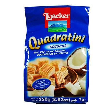 莱家威化食品 饼干 零食小吃 食品 粒粒装 椰子味250g/袋