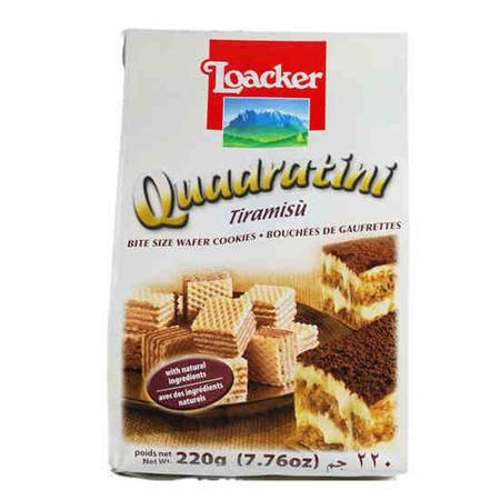 莱家威化食品 饼干 零食小吃 食品 粒粒装 提拉米苏味220g/袋