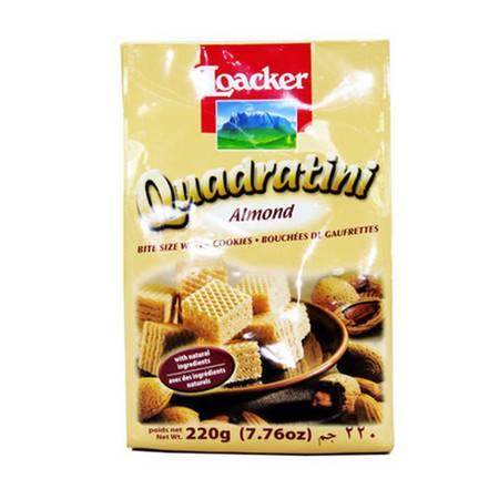 莱家威化食品 饼干 零食小吃 食品 粒粒装 扁桃仁味220g/袋