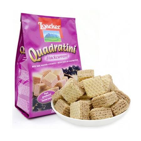 莱家威化食品 饼干 零食小吃 食品 粒粒装 黑加仑子味220g/袋