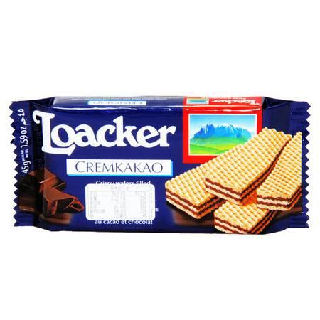莱家 威化饼干 零食小吃 食品 巧克力37.5g/包