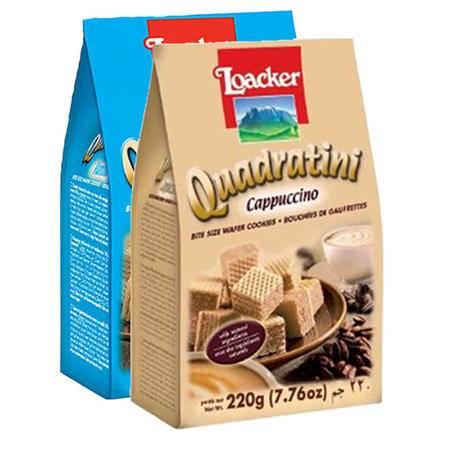 莱家/Loacker 威化饼干 零食小吃 食品(250/220g)*2种口味 随机组合装(包邮)