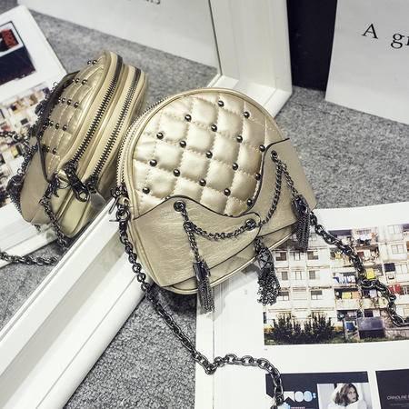 女王箱包 2015韩版夏季新款女包 复古流苏柳丁链条包  休闲单肩斜跨小包包