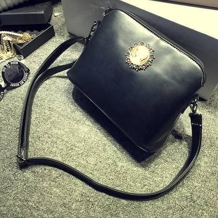 女王包袋2015夏季韩版新款女包 休闲复古单肩贝壳包 潮流时尚斜跨