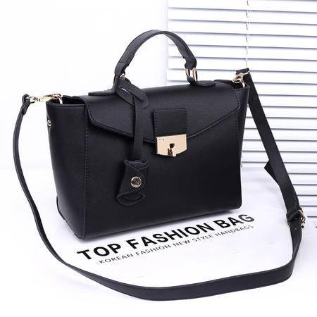 女王箱包 2015秋季韩版新款女包 手提包单肩斜跨包包 锁扣休闲机车女式包袋