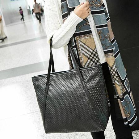 女王箱包 2015韩版潮流新款女包编织单肩手提外贸女包单肩包大包