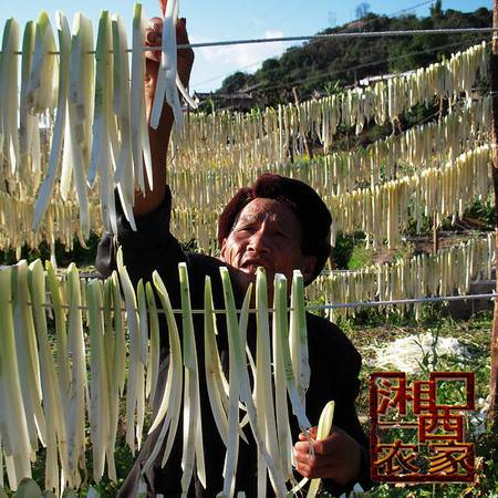 丹青农家 500克湘西乡下农民自制太阳自然晒干萝卜条/萝卜干/白萝卜