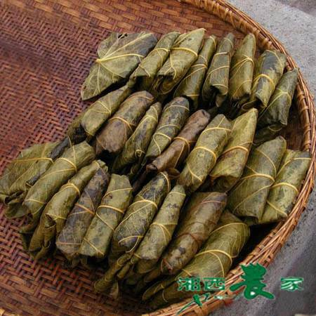 湘西农家手工糍粑 桐叶粑粑艾蒿菜粑 带馅的糯米糍粑 鲜糯香/5个200g