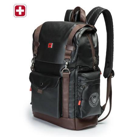 瑞士军刀新款简约双肩包男韩版休闲运动背包学生大容量书包电脑包SA9802