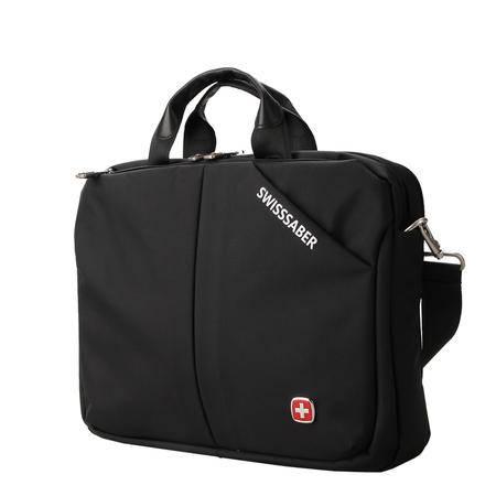 瑞士军刀2015新款男士横款公文包商务休闲单肩包旅行14寸电脑挎包SA1018