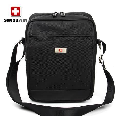瑞士军刀新款单肩包男 户外运动男士斜挎包 韩版商务休闲竖款男包 SW9006