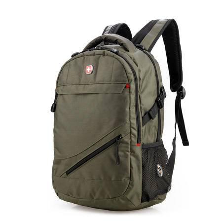 瑞士军刀双肩包男 韩版电脑背包商务休闲户外旅行包学生书包SA006