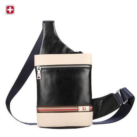 瑞士军刀新款男士真皮胸包 韩版户外时尚男包 商务休闲牛皮斜挎包BM050625