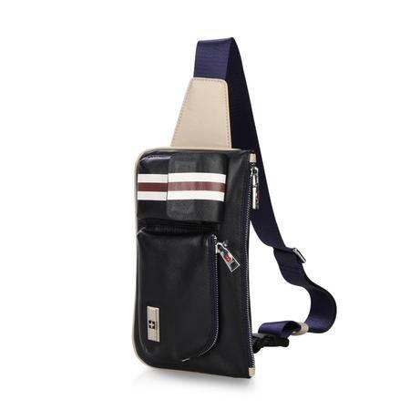 瑞士军刀新款男士胸包 真皮男包 户外运动休闲单肩包小包BM40627