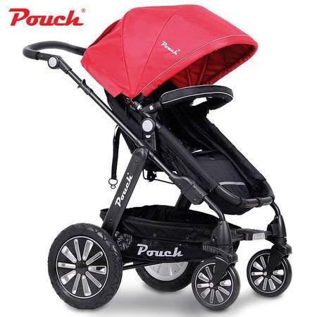 Pouch婴儿推车儿童车宝宝手推车高景观避震轻便折叠可坐躺bb车 P68旗舰版