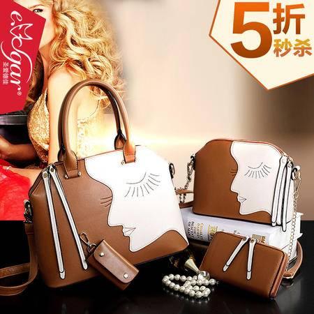 欧美时尚2015女士包包四件套超值手提包套包简约大包包夏季新品潮