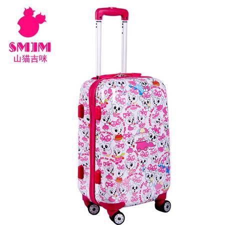 拉杆箱 万向轮行李箱子24寸旅行箱吉咪满花