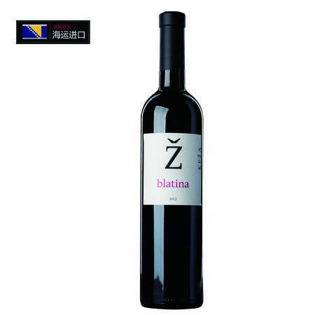 波黑原瓶进口红酒 凯撒酒庄BLATINA百帝娜干红葡萄酒