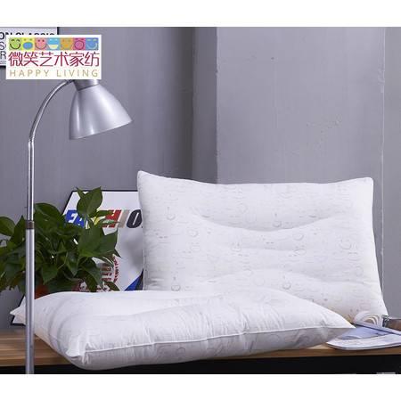 微笑艺术家纺 柔梦羽丝绒舒适健康枕护颈枕 抗菌枕芯防螨枕头48*74单人枕
