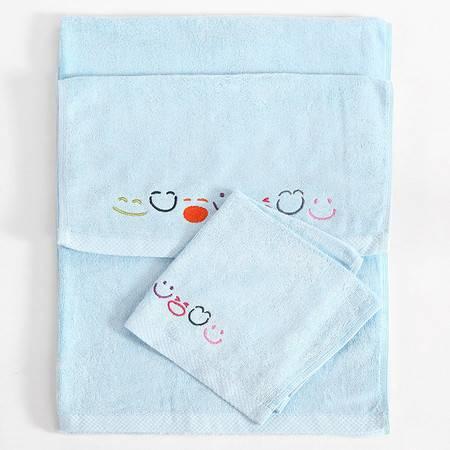 微笑艺术家纺 竹纤维毛浴巾三件套 方巾面巾浴巾三件套男女情侣款 11种颜色