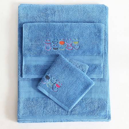 微笑艺术家纺 长绒棉微笑方巾 加厚舒适保暖面巾毛巾35*35 11种颜色