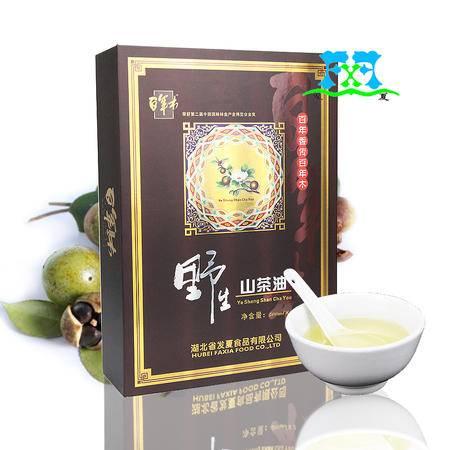 """""""百年木""""非转基因压榨野生纯山茶油500ml*2礼盒茶籽油 胜橄榄油"""