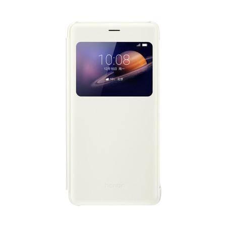 华为 荣耀V8 原装开窗保护套 手机壳智能休眠手机套开窗皮套耐磨防刮防滑保护套