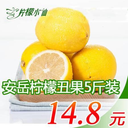 【柠檬小仙】 安岳新鲜黄柠檬柠檬三级丑果5斤装