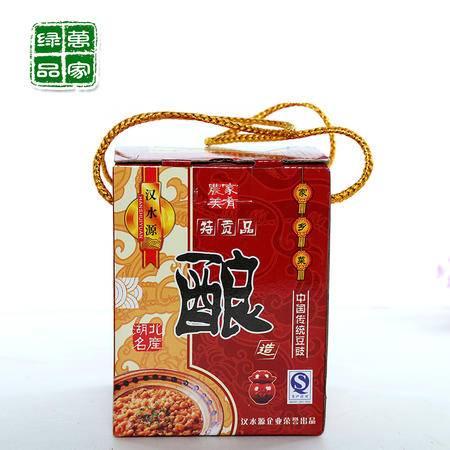【湖北特产】汉水源中国农家老牌传统风味 豆鼓酿 瓶装整装礼盒装
